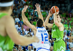 Zoran Dragic of Slovenia during basketball match between Slovenia vs Greece at Day 5 in Group C of FIBA Europe Eurobasket 2015, on September 9, 2015, in Arena Zagreb, Croatia. Photo by Vid Ponikvar / Sportida