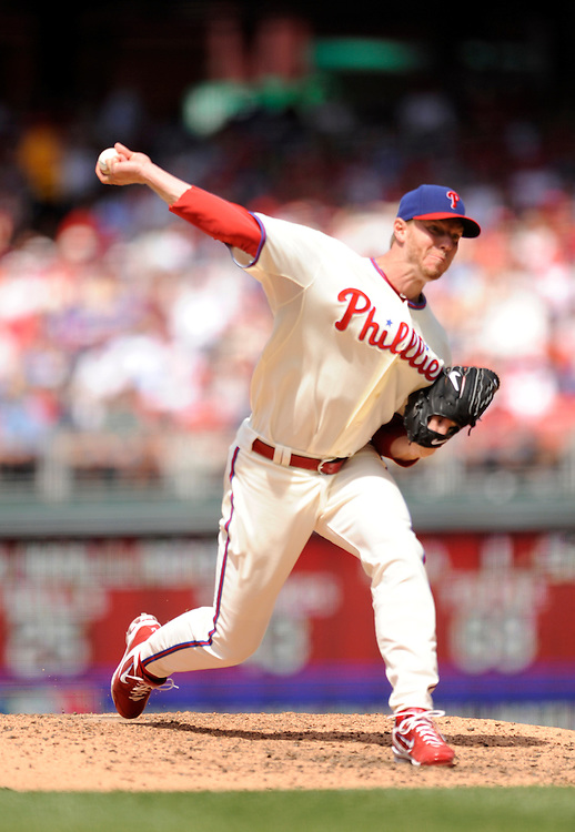 PHILADELPHIA - MAY 06: Roy Halladay #34 of the Philadelphia Phillies  pitches against the St Louis Cardinals at Citizens Bank Park on May 6, 2010 in Philadelphia, Pennsylvania. The Phillies defeated the Cardinals 7 to 2.(Photo by Rob Tringali) *** Local Caption *** Roy Halladay