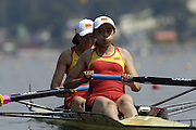 Poznan, POLAND.  2006, FISA, Rowing World Cup, CHN W2-, bow  Chengxi  YU and Yanan ZHANG, move away from the start pontoon at the   'Malta Regatta course;  Poznan POLAND, Fri. 16.06.2006. © Peter Spurrier   ....[Mandatory Credit Peter Spurrier/ Intersport Images] Rowing Course:Malta Rowing Course, Poznan, POLAND