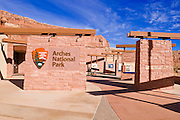 The Arches Visitor Center, Arches National Park, Utah