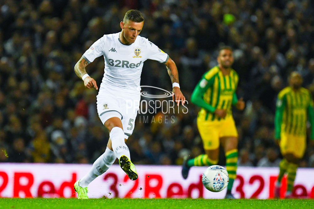 Leeds United defender Ben White (5) during the EFL Sky Bet Championship match between Leeds United and West Bromwich Albion at Elland Road, Leeds, England on 1 October 2019.
