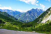 Slovenia, Julian Alps, in the northwestern Upper Carniola region, and part of Triglav National Park.