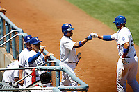 19 July 2009: Centerfielder Matt Kemp #27 scored the only four runs of the game for his team during the MLB Los Angeles Dodgers 4-3 win over the Houston Astros on a warm summer day in LA at Chavez Ravine during a National League Professional Baseball game.