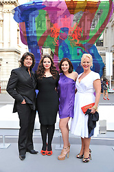 LAURENCE & JACKIE LLEWELYN-BOWEN with their daughters CECILE (in black) and HERMIONE at the Royal Academy of Arts Summer Exhibition Preview Party at Burlington House, Piccadilly, London on 2nd June 2011.