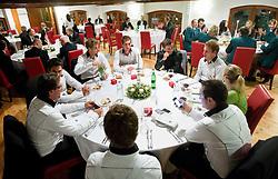 VIP Dinner at Davis cup Slovenia vs South Africa competition on September 11, 2013 in Jezersek Restaurant, Zg. Brnik, Slovenia. (Photo by Vid Ponikvar / Sportida.com)