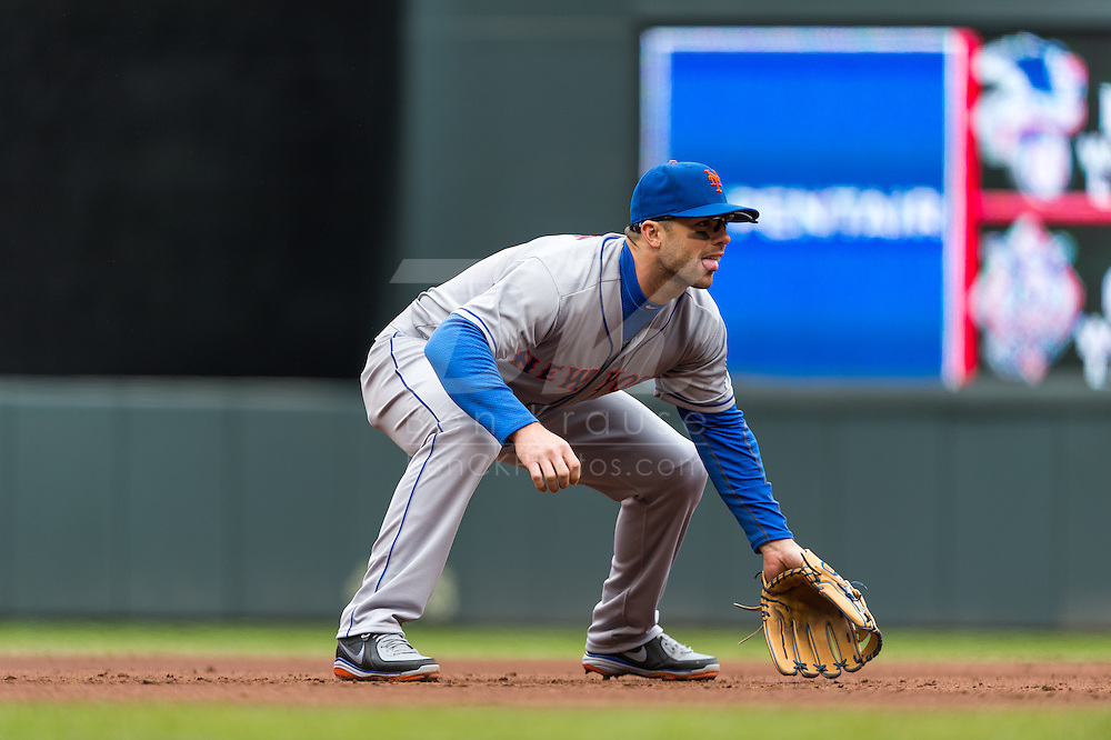 David Wright #5 of the New York Mets waits for a pitch during a game against the Minnesota Twins on April 13, 2013 at Target Field in Minneapolis, Minnesota.  The Mets defeated the Twins 4 to 2.  Photo: Ben Krause