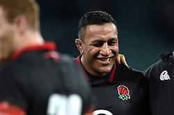 Mako Vunipola of England is all smiles after the match - Mandatory byline: Patrick Khachfe/JMP - 07966 386802 - 11/11/2017 - RUGBY UNION - Twickenham Stadium - London, England - England v Argentina - Old Mutual Wealth Series International