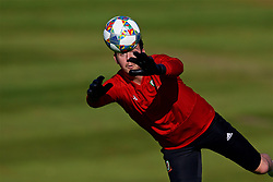 CARDIFF, WALES - Tuesday, October 9, 2018: Wales' goalkeeper Daniel Ward during a training session at the Vale Resort ahead of the International Friendly match between Wales and Spain. (Pic by David Rawcliffe/Propaganda)