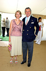 ARNAUD & CARLA BAMBERGER he is MD od Cartier at the 2005 Cartier International Polo between England & Australia held at Guards Polo Club, Smith's Lawn, Windsor Great Park, Berkshire on 24th July 2005.<br />