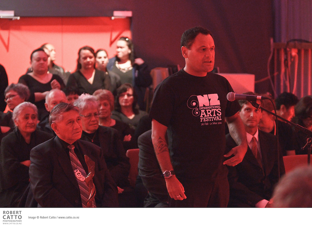 The New Zealand International Arts Festival 2010 begins with a dawn ceremony of welcome (powhiri) to greet international guests to Wellington for the first time.