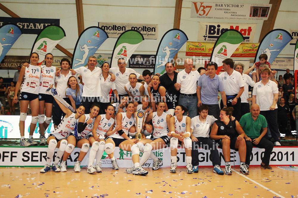 FAMILA CHIERI - ESSE-TI LORETO .CAMPIONATO ITALIANO VOLLEY SERIE A2-F 2010-2011.FINALE PLAYOFF PROMOZIONE GARA 3.CHIERI (TO) 21-05-2011.FOTO FILIPPO RUBIN / LVF