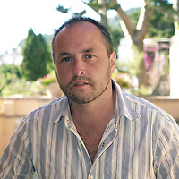Colum McCann novelist.  Photographed in Italy<br /> <br /> Copyright Steve Bisgrove/Writer Pictures <br /> contact +44 (0)20 8224 1564<br /> sales@writerpictures.com <br /> www.writerpictures.com