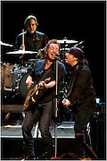 Bruce Springsteen (C) Steve Van Zandt (R) and Max Weinberg (L) perform at Montreal's Bell Center. PHOTO BY TIM SNOW
