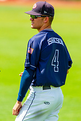 25 May 2019:  Augie Isaacson. Missouri Valley Conference Baseball Tournament - Dallas Baptist Patriots v Indiana State Sycamores at Duffy Bass Field in Normal IL<br /> <br /> #MVCSPORTS