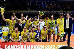 30-03-2013 VOLLEYBAL: LANDSTEDE VOLLEYBAL - ABIANT LYCURGUS: ZWOLLE<br /> 5de Play-off finale best of 5 - Zwolle kampioen<br /> &copy;2013-FotoHoogendoorn.nl