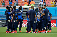 The players of Italy take a pre match stroll on the pitch prior to the 2014 FIFA World Cup match at Arena da Amazonia, Manaus<br /> Picture by Andrew Tobin/Focus Images Ltd +44 7710 761829<br /> 14/06/2014