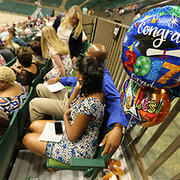 A small gift awaits a senior at Nettleton High School after their graduation ceremony at the BancorpSouth Arena in Tupelo Saturday morning.