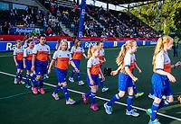 AMSTELVEEN -  mascottes voor de halve finale  Nederland-Duitsland van de Pro League hockeywedstrijd dames. COPYRIGHT KOEN SUYK
