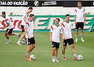 Philipp Lahm (captain) of Germany (C) during the Germany training session at the Est&aacute;dio S&atilde;o Janu&aacute;rio, Rio de Janeiro, ahead of tomorrow's World Cup Final. <br /> Picture by Andrew Tobin/Focus Images Ltd +44 7710 761829<br /> 12/07/2014