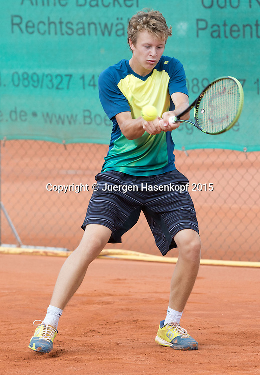 Fabian Penzkofer (GER)-Tennis Europe,M&uuml;nchen Junior Open BS16<br /> <br /> Tennis - Audi GW plus Zentrum M&uuml;nchen Junior Open 2015 - ITF Junior Tour -  SC Eching - Eching - Bayern - Germany  - 15 August 2015. <br /> &copy; Juergen Hasenkopf