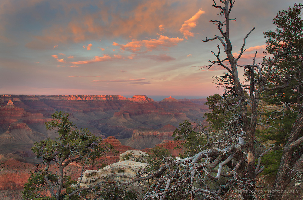 Evening over the Grand Canyon seen from Mather Point, Grand Canyon National Park