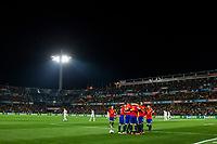 Spain's Dani Carvajal Aritz Aduriz Isco Nacho Monreal  during the match of European qualifying round between Spain and Macedonia at Nuevo Los Carmenes Stadium in Granada, Spain. November 12, 2016. (ALTERPHOTOS/Rodrigo Jimenez)