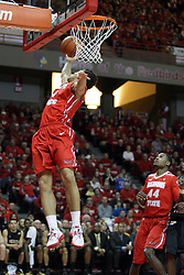 17 February 2013:  Kaza Keane with a reverse lay up during an NCAA Missouri Valley Conference mens basketball game where the Shockers of Wichita State played the Illinois State Redbirds  in Redbird Arena, Normal IL