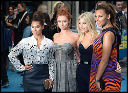 The Saturdays arrive for the We're The Millers - European Film Premiere. Odeon, London, United Kingdom. Wednesday, 14th August 2013. Picture by Andrew Parsons / i-Images