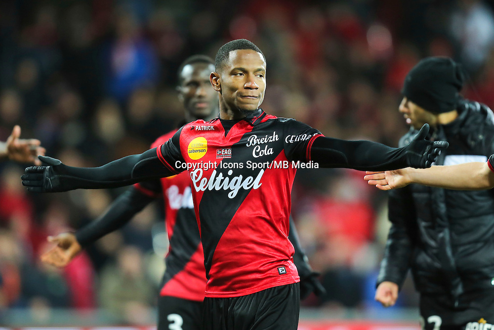 Joie Guingamp - Claudio BEAUVUE - 14.12.2014 - Guingamp / Paris Saint Germain - 18eme journee de Ligue 1<br />