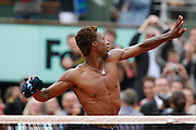 Roland Garros. Paris, France. June 4th 2008..Gael MONFILS won against David FERRER..1/4 Finals...