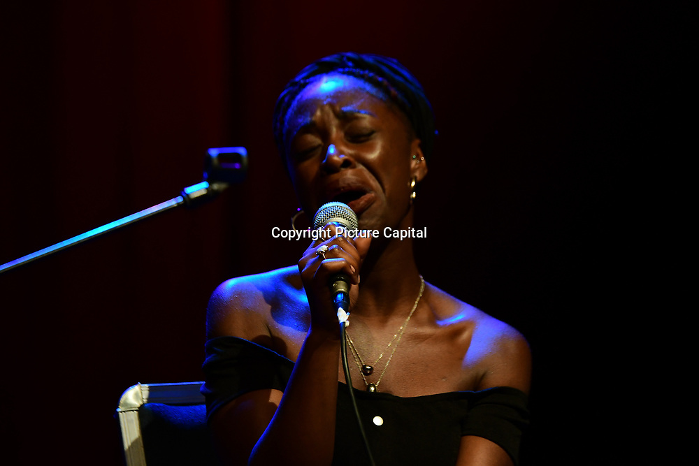 Lowkey musician preforms at the Just Say No - Artists Against Trump & War host by Stop the War Coalition, Trump is not welcome in the UK at The Shaw Theatre on 8th July 2018.