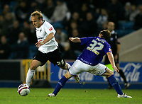 Photo: Tom Dulat/Sportsbeat Images.<br /> <br /> Millwall v Swansea City. Coca Cola League 1. 06/11/2007.<br /> <br /> Bryan Hodge of Millwall and Thomas Butler of Swansea City with the ball.