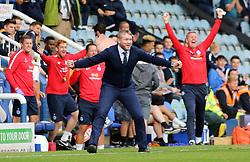 Peterborough United Manager Grant McCann celebrates the second goal on the touchline - Mandatory by-line: Joe Dent/JMP - 23/09/2017 - FOOTBALL - ABAX Stadium - Peterborough, England - Peterborough United v Wigan Athletic - Sky Bet League One