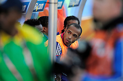 Thierry Henry sits on the bench for his last game for France during the 2010 World Cup Soccer match between South Africa and France played at the Freestate Stadium in Bloemfontein South Africa on 22 June 2010.