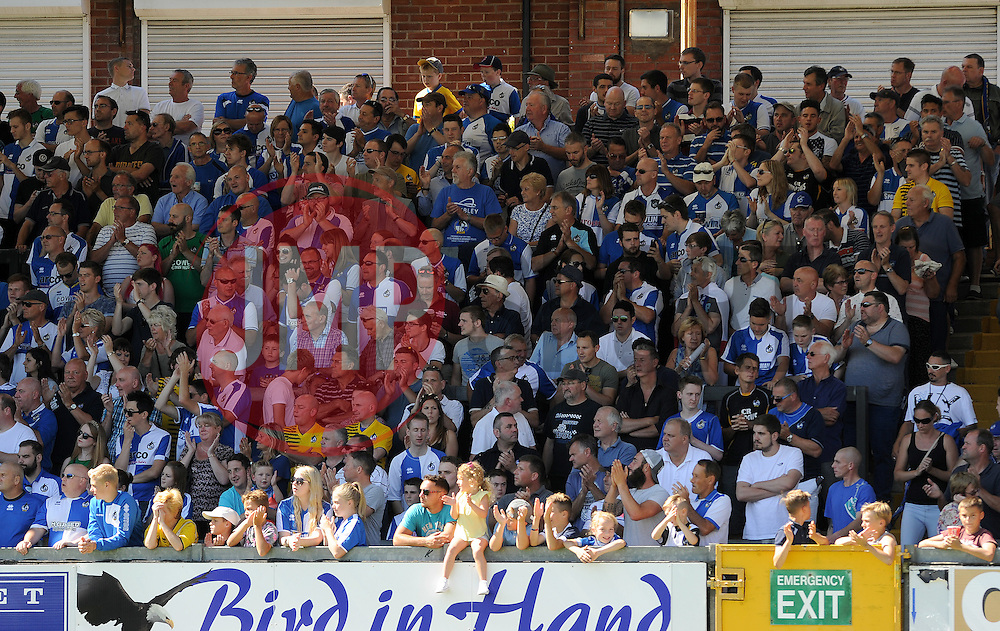 Bristol Rovers fans - Mandatory byline: Neil Brookman/JMP - 07966386802 - 08/08/2015 - FOOTBALL - Memorial Stadium -Bristol,England - Bristol Rovers v Northampton Town - Sky Bet League Two