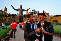 At the Mandela statue near the Union Buildings in Pretoria