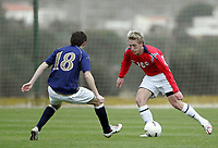 Fotball / Football<br /> International U 19 Team Tournament<br /> Norge v Skottland 1-2<br /> Norway v Scotland 1-2 at La Manga - Spain<br /> 08.02.2007<br /> Foto: Morten Olsen, Digitalsport<br /> <br /> Per Egil Flo - Sogndal / Norway<br /> Sean Mackle - Hearts / Scotland