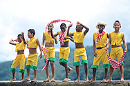 Afro-Colombian dances with colorful traditional clothing.