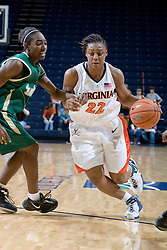 Virginia Cavaliers Guard Monica Wright (22) in action against South Florida.  The Virginia Cavaliers defeated the South Florida Bulls 73-71 in the third round of the Women's NIT held at John Paul Jones Arena in Charlottesville, VA on March 22, 2007.
