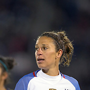 Carli Lloyd, USA, in action during the USA Vs Colombia, Women's International friendly football match at the Pratt & Whitney Stadium, East Hartford, Connecticut, USA. 6th April 2016. Photo Tim Clayton
