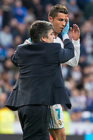 Real Madrid Cristiano Ronaldo injured during La Liga match between Real Madrid and R. C. Deportivo at Santiago Bernabeu Stadium in Madrid, Spain. January 18, 2018. (ALTERPHOTOS/Borja B.Hojas)