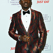 Tommy Adebayo attends the British Takeaway Awards, in association with Just Eat at London's Savoy Hotel on 12 November 2018, London, UK.