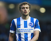 Brighton striker James Wilson during the Sky Bet Championship match between Brighton and Hove Albion and Huddersfield Town at the American Express Community Stadium, Brighton and Hove, England on 23 January 2016. Photo by Bennett Dean.