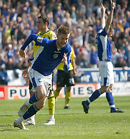 Photo: Steve Bond/Richard Lane Photography. Leicester City v Watford. Coca Cola Championship. 17/04/2010. Paul Gallagher turns away after scoring