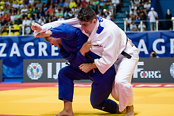 VAN T END Noel of the Netherlands and TRIPPEL Eduard of Germany compete on July 28, 2019 at the IJF World Tour, Zagreb Grand Prix 2019, in Dom Sportova, Zagreb, Croatia. Photo by SPS / Sportida