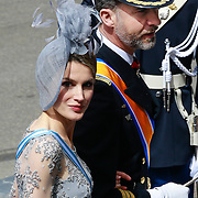 NLD/Amsterdam/20130430 - Inhuldiging Koning Willem - Alexander, princess Letitzia en prince Filipe van Spain