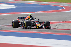 October 21, 2018 - Austin, TX, U.S. - AUSTIN, TX - OCTOBER 21: Red Bull Racing driver Max Verstappen (33) of Netherlands enjoys open racing during the F1 United States Grand Prix on October 21, 2018, at Circuit of the Americas in Austin, TX. (Photo by Ken Murray/Icon Sportswire) (Credit Image: © Ken Murray/Icon SMI via ZUMA Press)