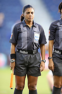 16 October 2014: Assistant referee Eperatriz Ayala (SLV). The Jamaica Women's National Team played the Martinique Women's National Team at Sporting Park in Kansas City, Kansas in a 2014 CONCACAF Women's Championship Group B game, which serves as a qualifying tournament for the 2015 FIFA Women's World Cup in Canada. Jamaica won the game 6-0.