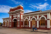 09 JANUARY 2007 - GRANADA, NICARAGUA:  The old, unused train station in Granada, Nicaragua. The station is now a museum. Granada, founded in 1524, is one of the oldest cities in the Americas. Granada was relatively untouched by either the Nicaraguan revolution or the Contra War, so its colonial architecture survived relatively unscathed. It has emerged as the heart of Nicaragua's tourism revival.  Photo by Jack Kurtz