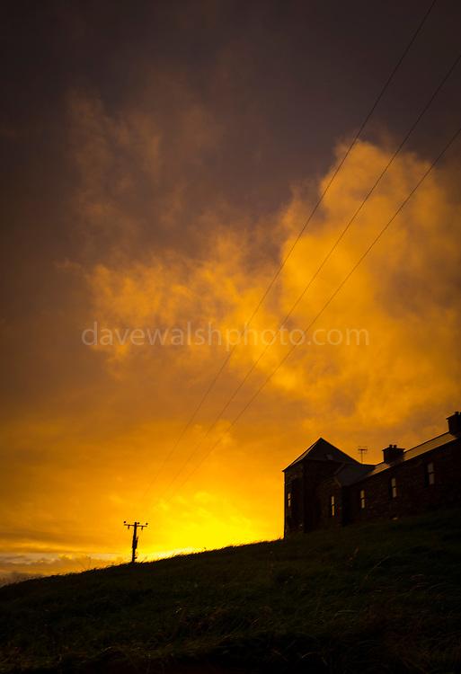 Twilight on the Sky  Road, Clifden, Connemara, Galway, Ireland
